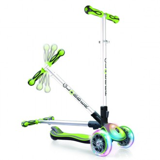 Patinete Elite Multi luces verde