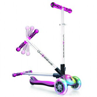 Patinete ELITE Multiple luces rosa