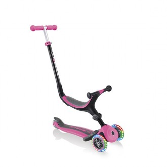 Trotinete Go Up Foldable Plus lights rosa