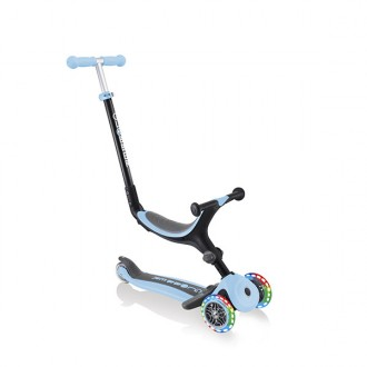 Patinete Go Up Foldable Plus lights azul pastel