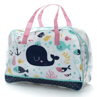 Borsa da spiaggia rosa The Best Swimmer