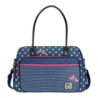 Bolso cambiador Pret denimized navy