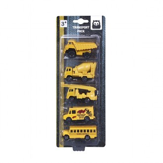 Set 5 coches Construction New