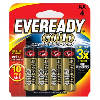 4 pilas AA eveready gold