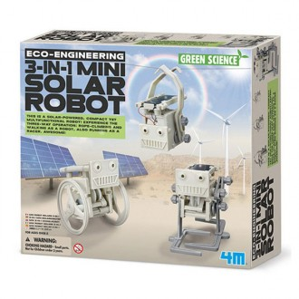 Green Science mini robot solar 3 en 1