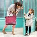 Bolso maternal essential cherry
