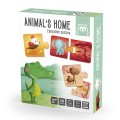Animals home puzzle educativo