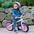 Bicicleta sem pedais training bike rosa